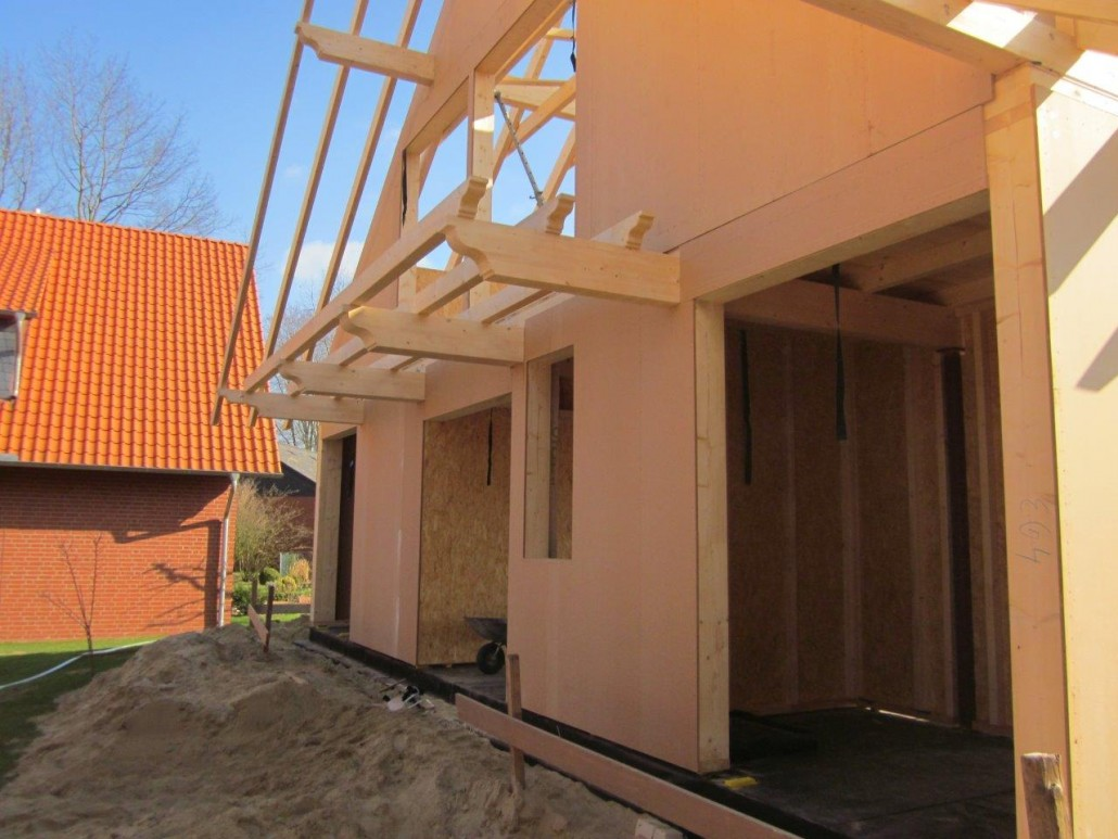 Holzrahmenbau dachdeckerei und zimmerei reiner gliesmann for Fachwerk aussteifung
